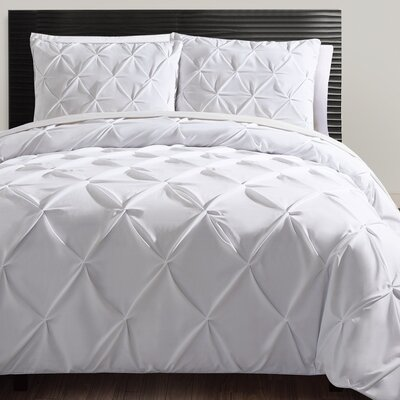 Uma Duvet Set Size: Queen, Color: White