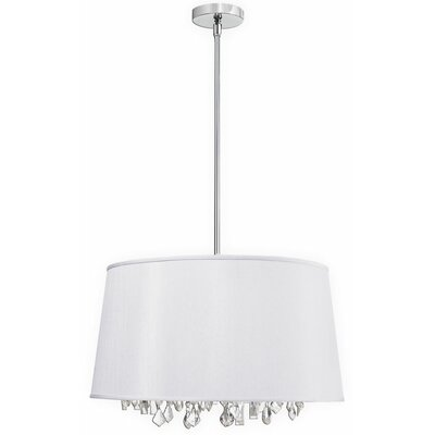 Deston 8-Light Drum Pendant Shade Color: White