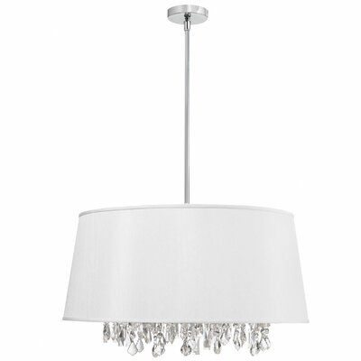 Deston Modern 6-Light Drum Pendant Shade Color: White