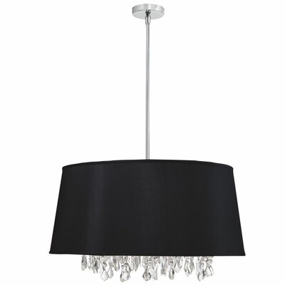 Deston Modern 6-Light Drum Pendant Shade Color: Black