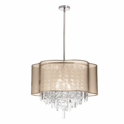 Deston 6-Light Drum Pendant Shade Color: Gold