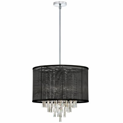 Deston 6-Light Convertible Drum Pendant Shade Color: Black