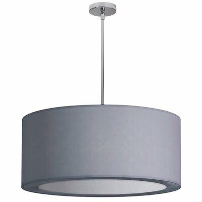 Deston 4-Light Drum Pendant Shade Color: Silver
