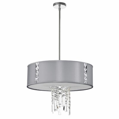 Deston 3-Light Drum Pendant Shade Color: Steel