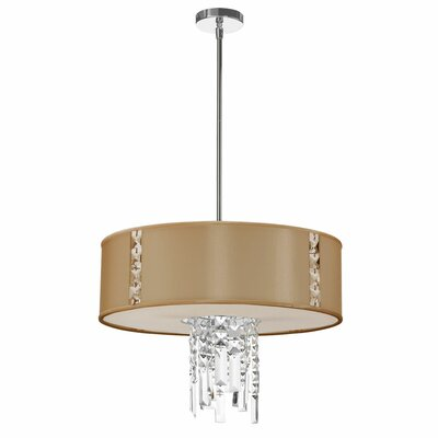 Marina 3-Light Drum Pendant Shade Color: Latte