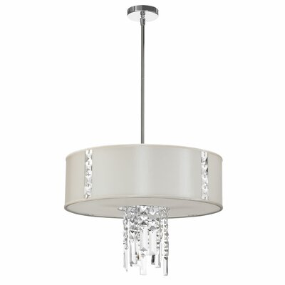 Deston 3-Light Drum Pendant Shade Color: Pearl
