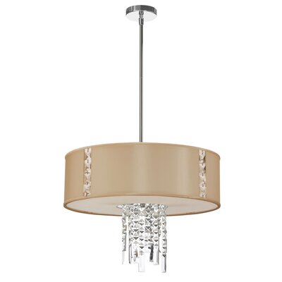 Deston 3-Light Drum Pendant Shade Color: Cream