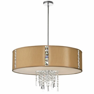 Marina 4-Light Drum Pendant Shade Color: Latte