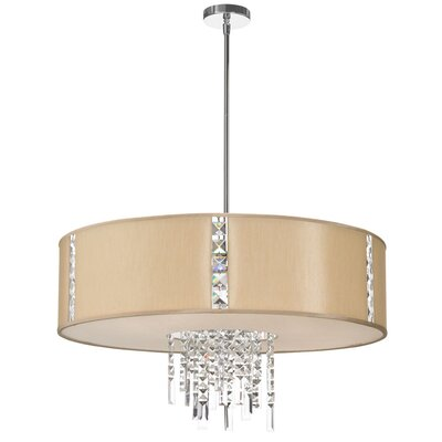 Deston 4-Light Drum Pendant Shade Color: Cream