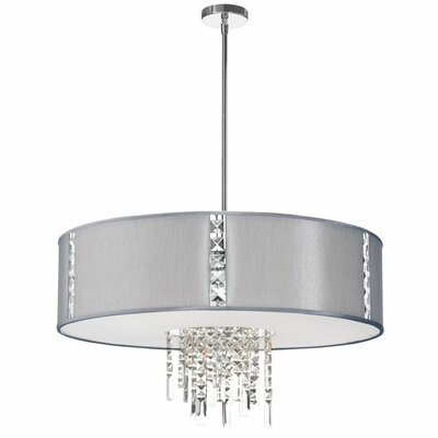 Deston 4-Light Drum Pendant Shade Color: Steel