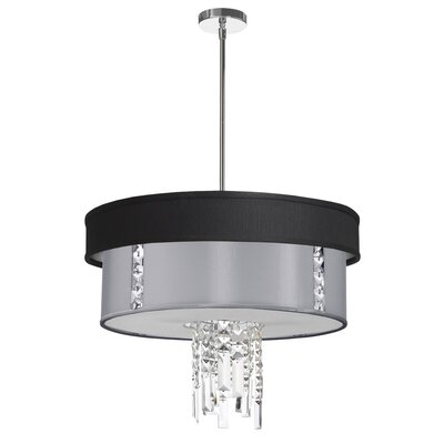 Deston 3-Light Metal Drum Pendant Shade Color: Steel