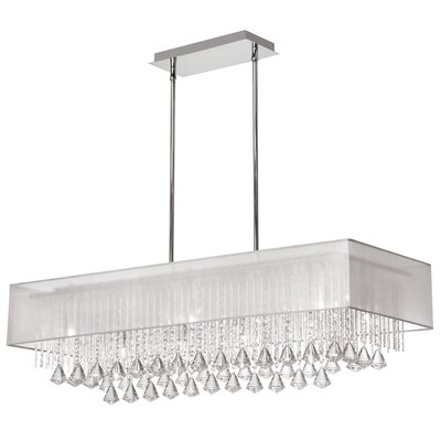 Marina 10-Light Kitchen Island Pendant Shade Color: Silver