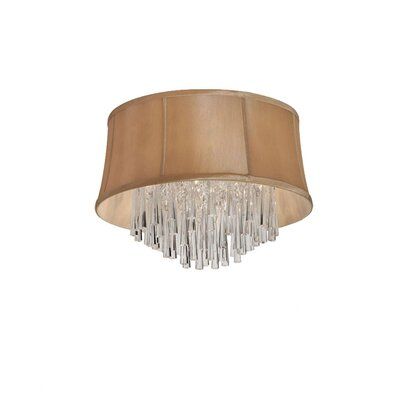 Deston Modern 3-Light Flush Mount Shade Color: Latte