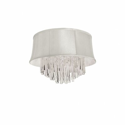 Deston Modern 3-Light Flush Mount Shade Color: Pearl