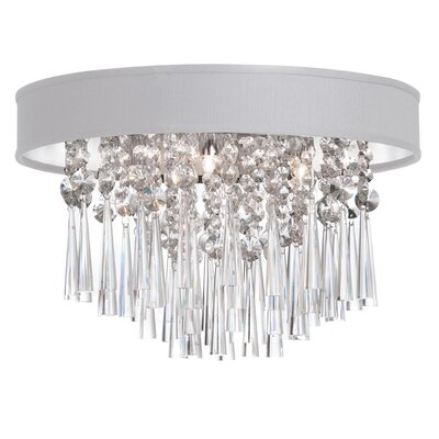 Deston Modern 4-Light Flush Mount Shade Color: White