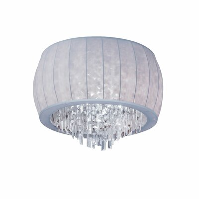 Marina 4-Light Flush Mount Shade Color: Silver Lycra