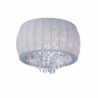Deston 4-Light Flush Mount Shade Color: Silver Lycra