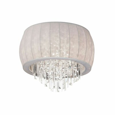 Deston 4-Light Flush Mount Shade Color: White Lycra