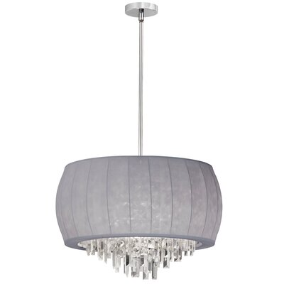 Roscoe Shaded Chandelier Shade Color: Silver Lycra