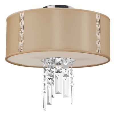 Alee 2-Light Flush Mount Shade Color: Cream