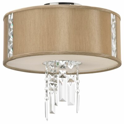 Alee 2-Light Flush Mount Shade Color: Latte