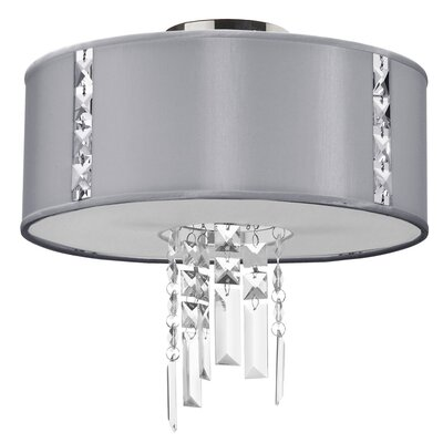 Alee 2-Light Flush Mount Shade Color: Steel