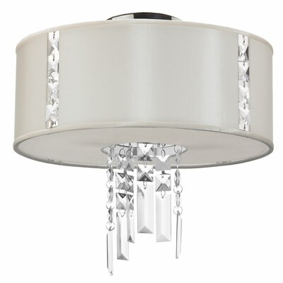 Alee 2-Light Flush Mount Shade Color: Pearl