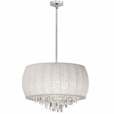 Marina 6-Light Shaded Chandelier Shade Color: White Lycra