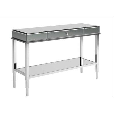 Calisto Mirrored Console Table Finish: Chrome