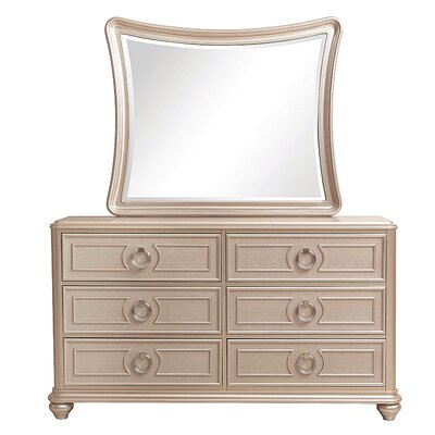 Banyan 6 Drawer Double Dresser with Mirror