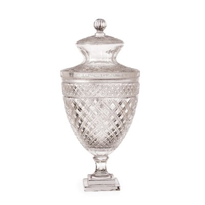Royal Covered Clear Glass Urn