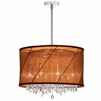 Deston 6-Light Drum Chandelier Color: Rust