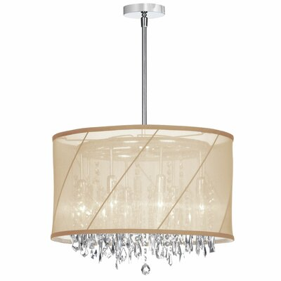 Deston 6-Light Drum Chandelier Color: Beige