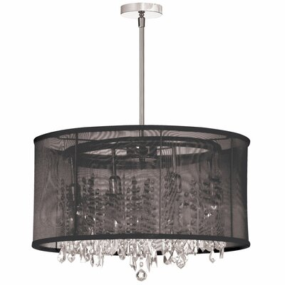 Deston 8-Light Drum Chandelier Shade Color: Black