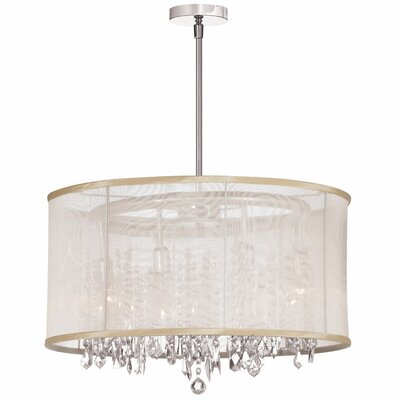 Deston 8-Light Drum Chandelier Shade Color: Oyster