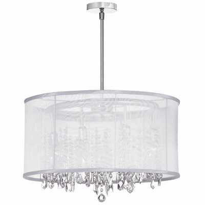 Deston 8-Light Drum Chandelier Shade Color: White