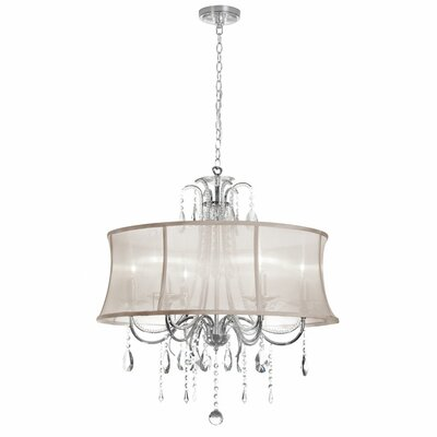Oceane 6-Light Shaded Chandelier Shade Color: Oyster