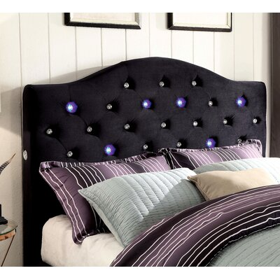 Clement Upholstered Panel Headboard Size: California King, Upholstery: Black