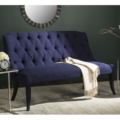 Courtnay Settee Upholstery: Navy Blue
