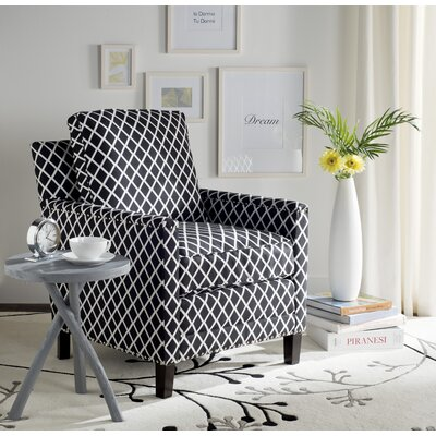 Coppola Armchair Upholstery: Black/White