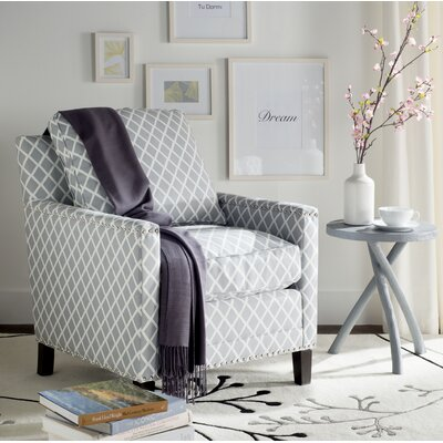 Coppola Arm Chair Upholstery: Gray/White
