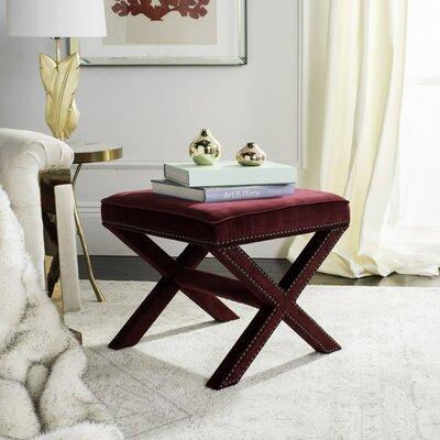 Morrison Ottoman Upholstery: Red Velvet