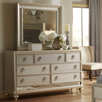 Fanchon 7 Drawer Dresser with Mirror
