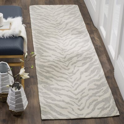 Kempston Hand-Woven Gray/Beige Area Rug Rug Size: Rectangle 23 x 4