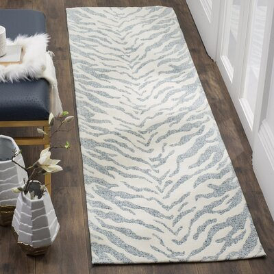 Kempston Hand-Woven Beige/Gray Area Rug Rug Size: Runner 23 x 8