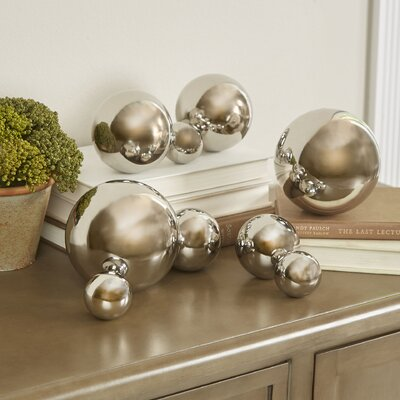 Godmanchester 9 Piece Decorative Ball Sculpture Set