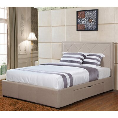 Lidio Upholstered Storage Platform Bed Size: Queen, Color: Khaki
