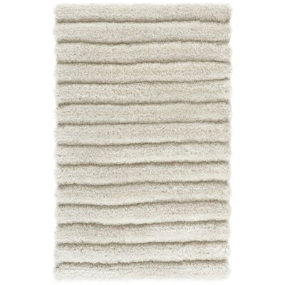 Charmain Hand-Tufted/Hand-Hooked Ivory Area Rug Rug Size: Rectangle 26 x 4