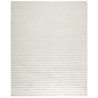 Charmain Hand-Tufted/Hand-Hooked Ivory Area Rug Rug Size: Rectangle 8 x 10