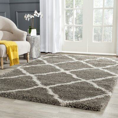 Charmain Grey & Taupe Area Rug Rug Size: Rectangle 86 x 12